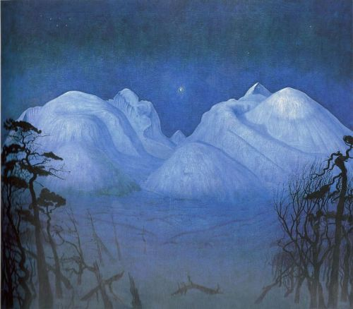 Harald Sohlberg-Night in the Mountains 1914