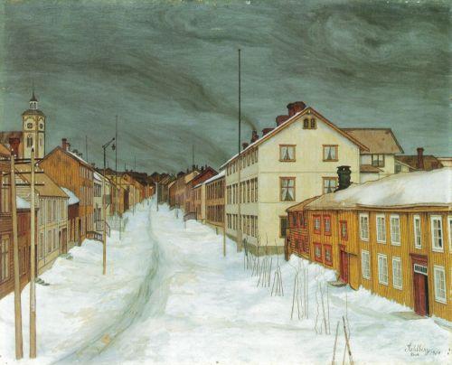 Harald Sohlberg-Storgaten_Røros_1904
