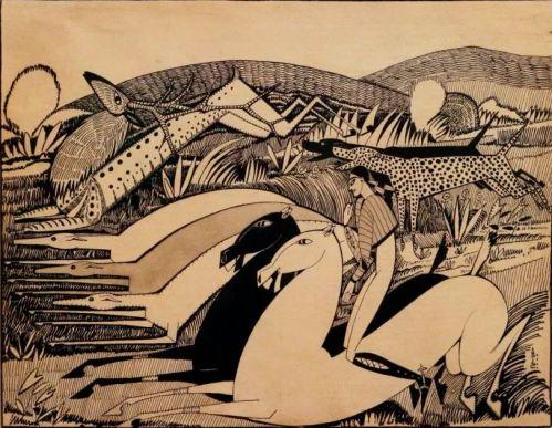 Amadeo de Souza Cardoso-La Dentate du Cerf 1912