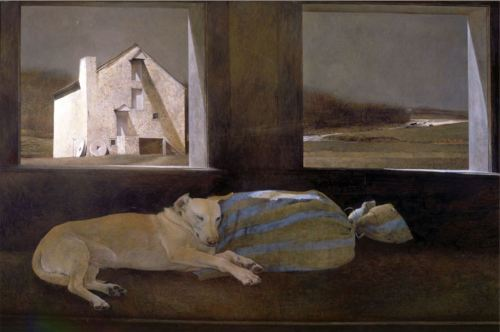 Andrew Wyeth- Night Sleeper 1979