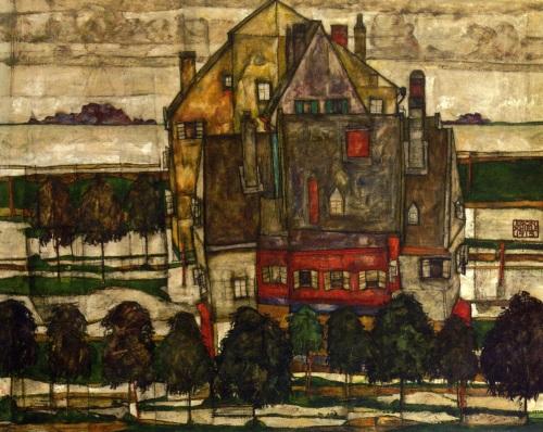 Egon Schiele  Einzelne Häuser 1915