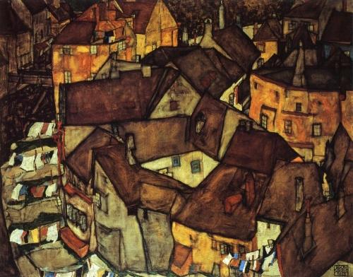 Egon Schiele - Krumau Town Crescent I  1915