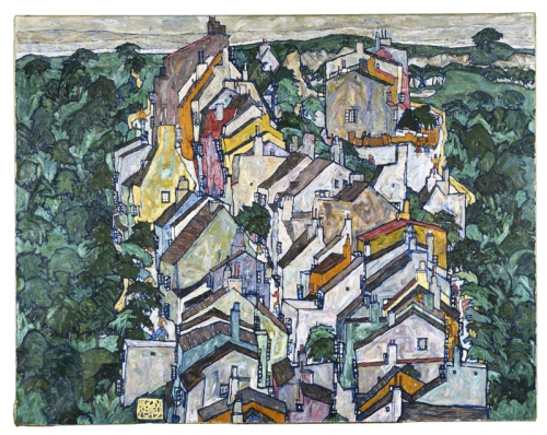 Egon Schiele Town Among the Greenery
