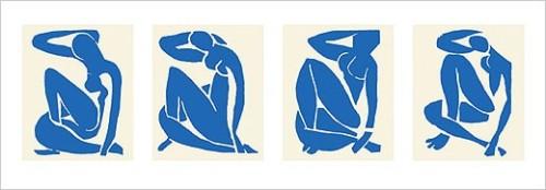 Henry Matisse Blue Nudes I-II-III-IV 1952