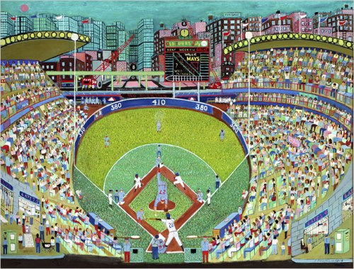 Ralph Fasanella - Night Game/ 'Tis a Bunt 1981