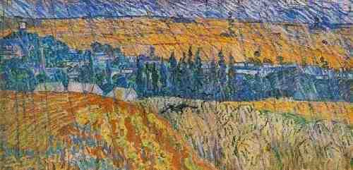 Vincent Van Gogh-Landscape at Auvers in the Rain 1890