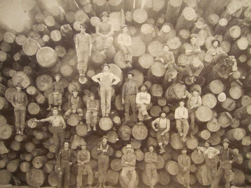 Portrait of a Group of Lumberjacks