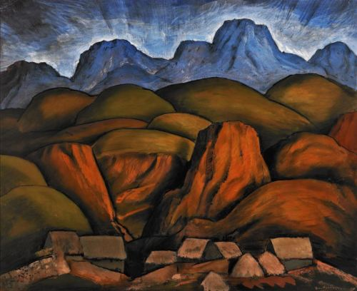 Alfredo Ramos Martinez- Mexican Landscape 1935