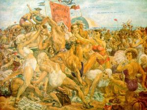 Reginald Marsh Coney Island Scene