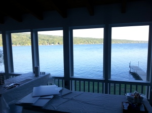 Inside at Sunny Point. Keuka Lake