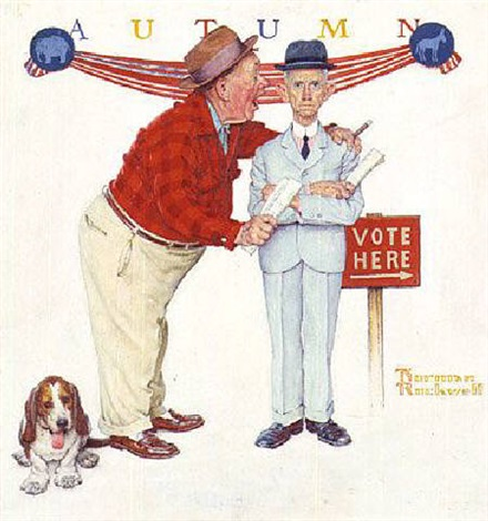 norman-rockwell-election-day-with-dog
