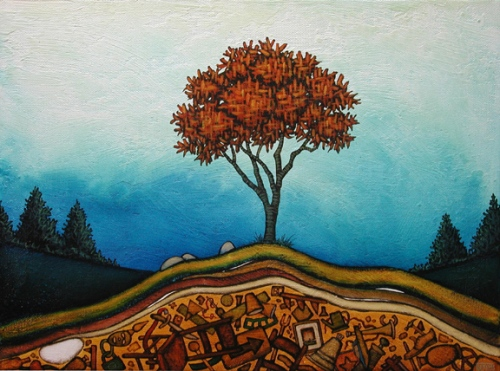 GC Myers- Archaeology- Rising From Blue 2008