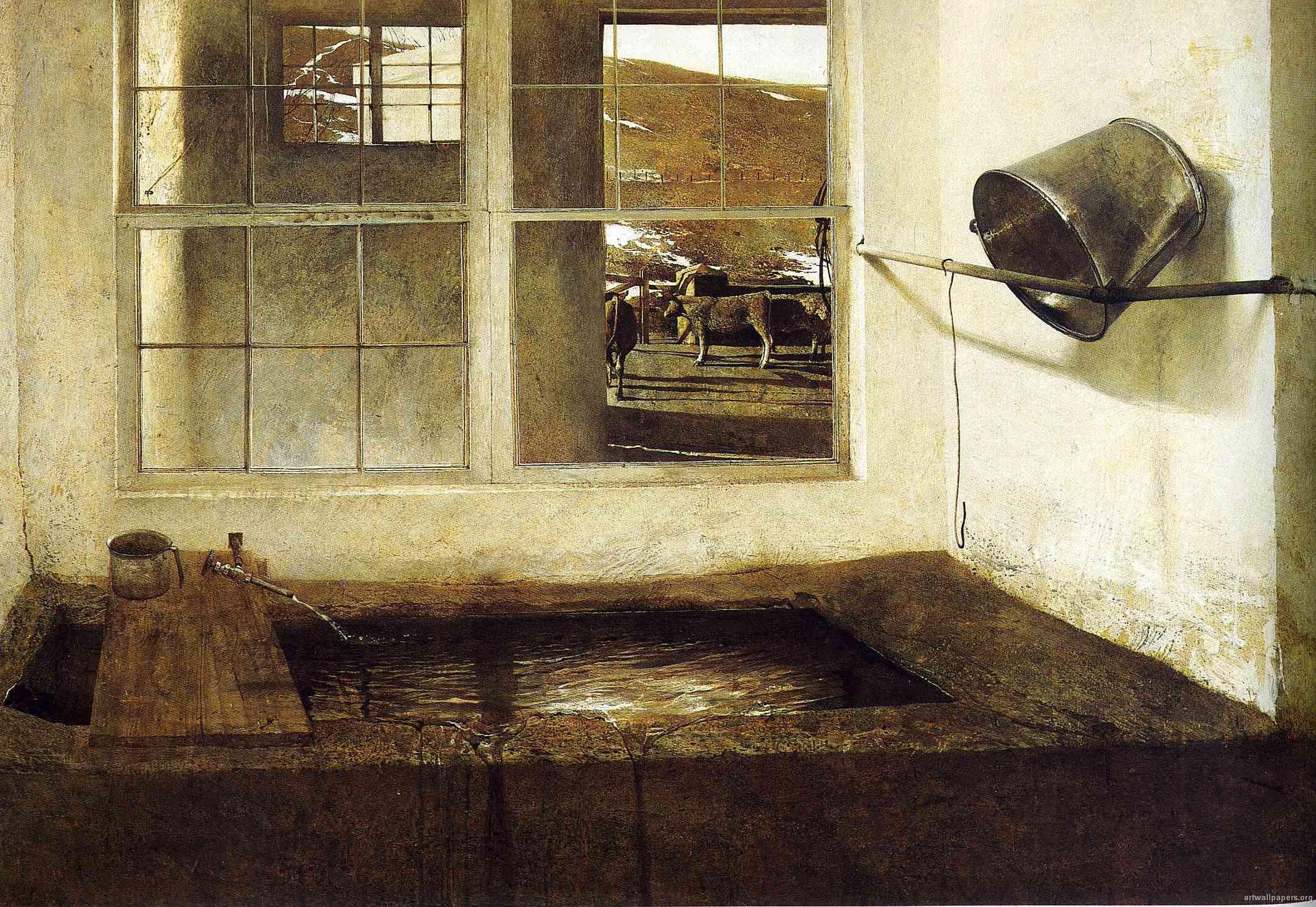 Andrew Wyeth Spring Fed 1967
