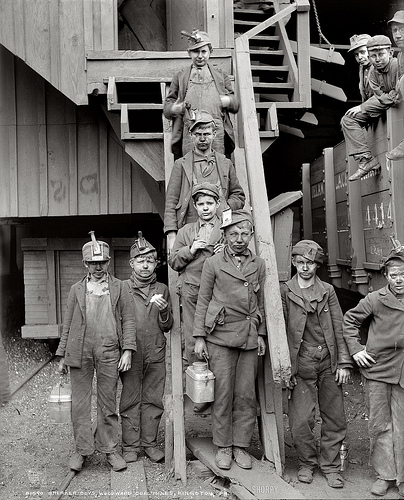 Lewis Hine Young Miners