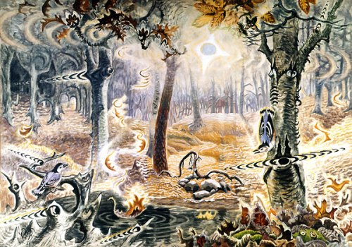 Charles Burchfield-1916-44-autumnal-fantasy