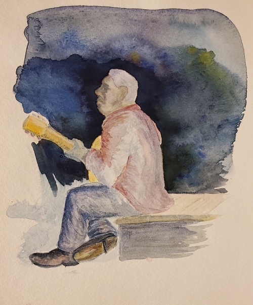 Folk Blues- LeRon's Yellow Guitar -GC Myers 1994