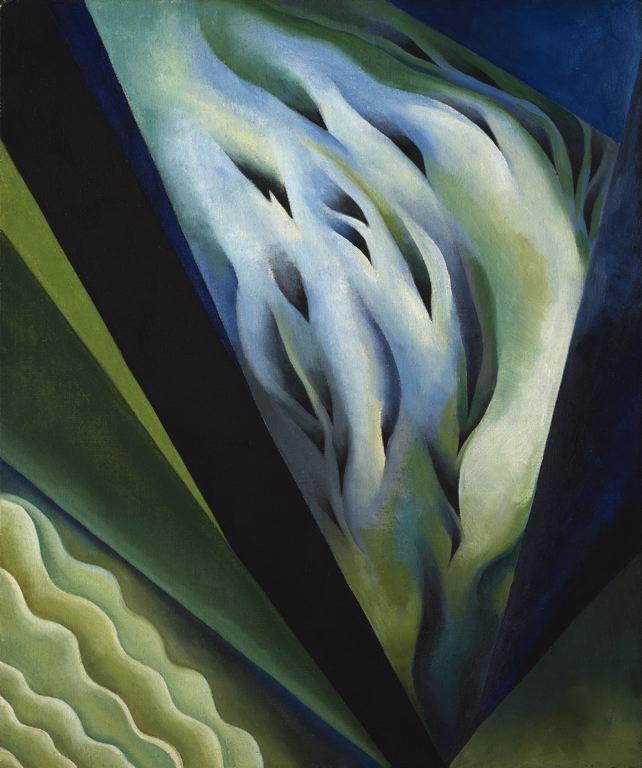 Georgia O'Keeffe- Blue and Green Music