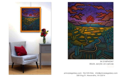 GC Myers- In Rhapsody Principle Gallery 2021 Catalog page
