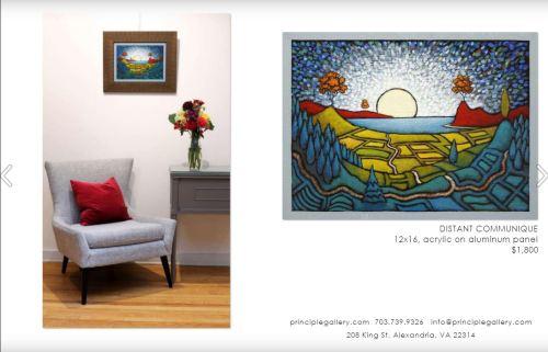 GC Myers- Distant Communique-Principle Gallery 2021 Catalog Page