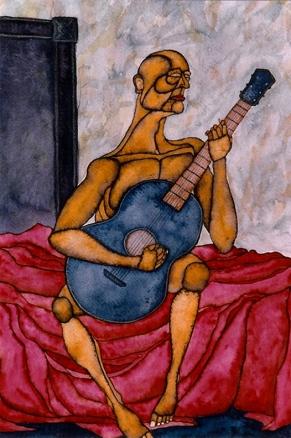 GC Myers- exiles-blue-guitar 1995