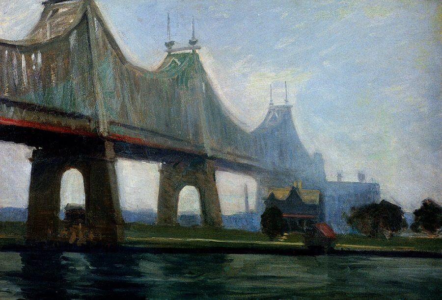 Hopper- queensborough-bridge 1913