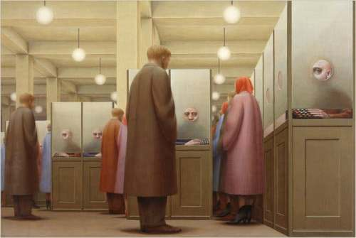 George Tooker The Government Bureau