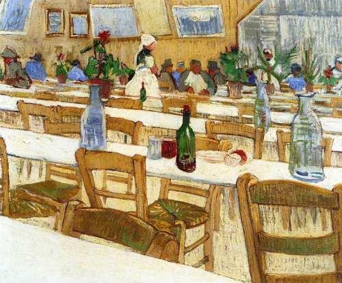 Van Gogh- Interior of the Restaurant Venissac in Arles, August 1888.