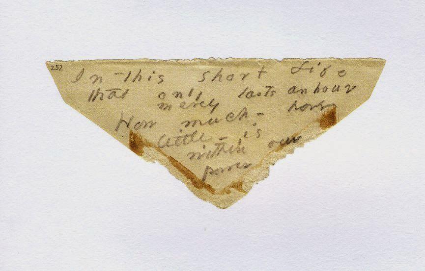 Emily Dickinson Envelope Poem