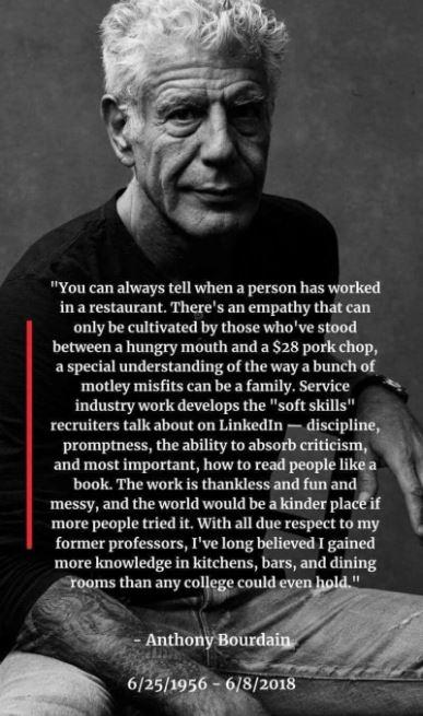 Anthony Bourdain Empathy